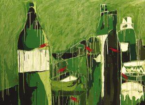 Leihkunst, Gemälde, Flaschen